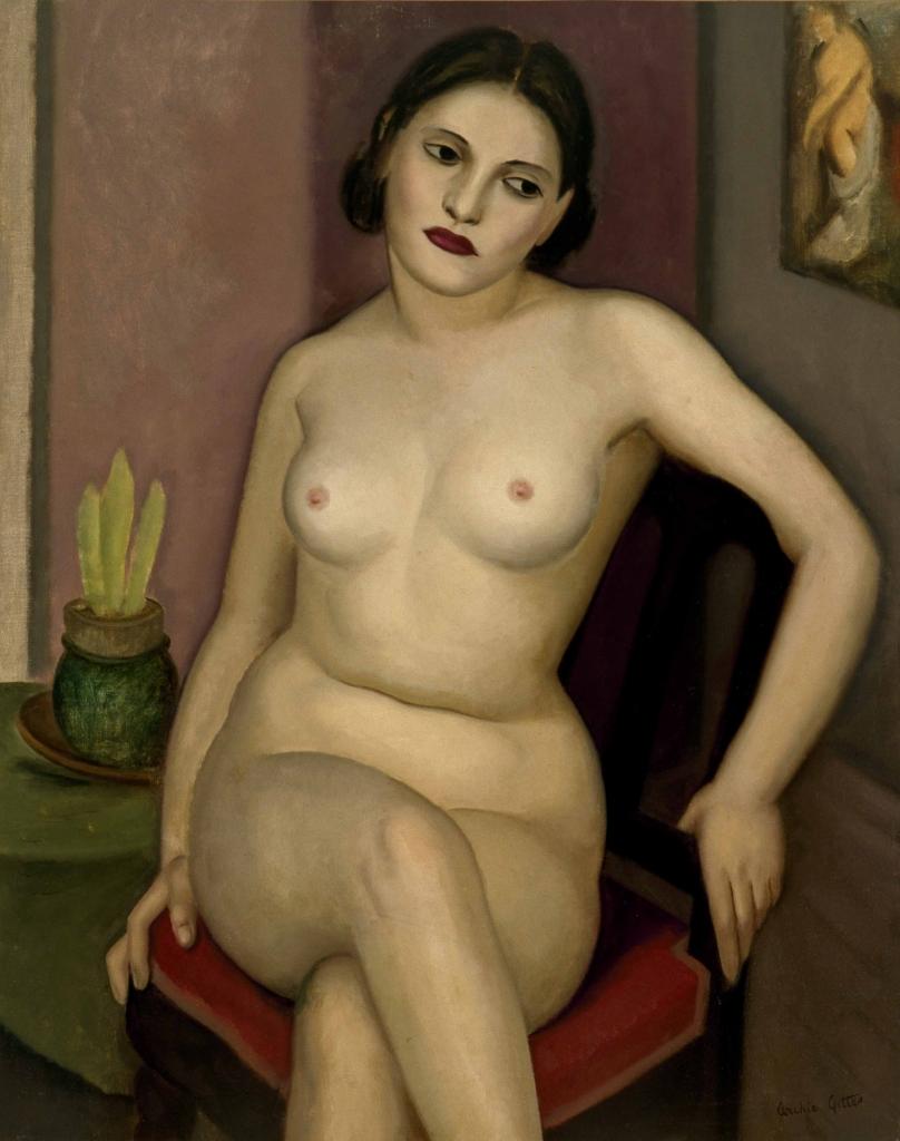 Archie Gittes, Nu femení, 1952. Es Baluard Museu d'Art Modern i Contemporani de Palma, dipòsit Col·lecció Serra