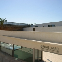 Es Baluard. Outdoors.