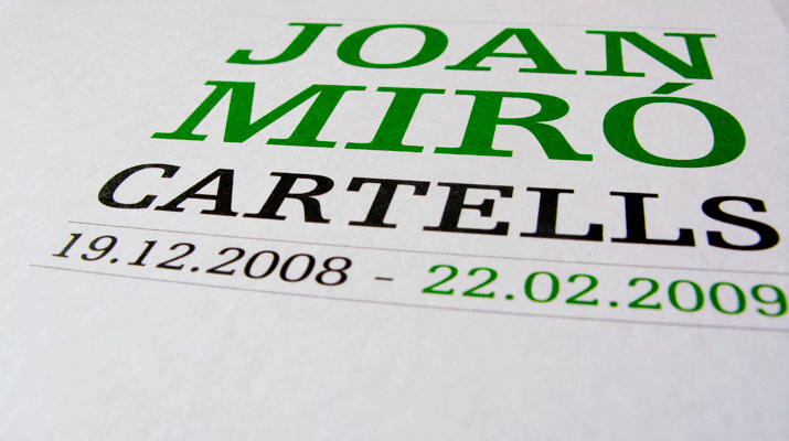 Joan Mir. Cartells