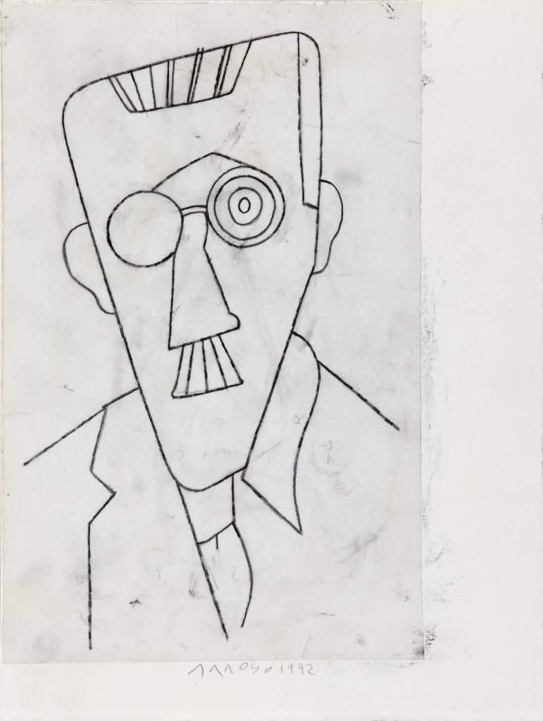 Eduardo Arroyo, <i>James Joyce</i>, 1992. Private collection